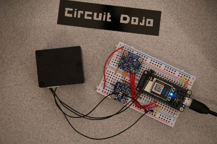 Everything assembled on breadboard