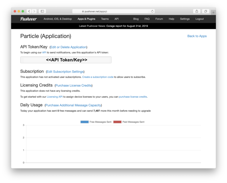 Viewing Application with API key