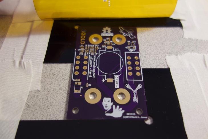 Circuit Board Nestled in Jig