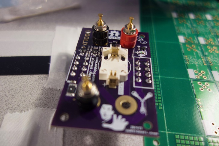 Finished soldered circuit board