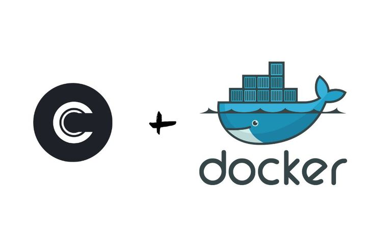 Commento Logo with Docker Logo