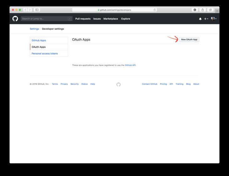 Add OAuth application