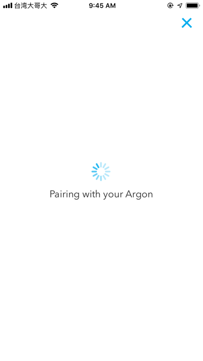 Pairing with your Argon
