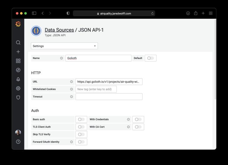 Set the API URL