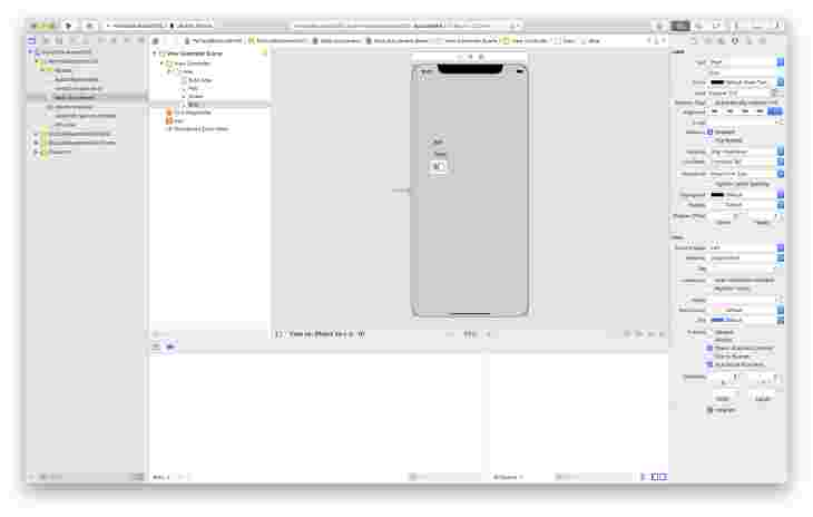 Dragging Labels to Xcode View